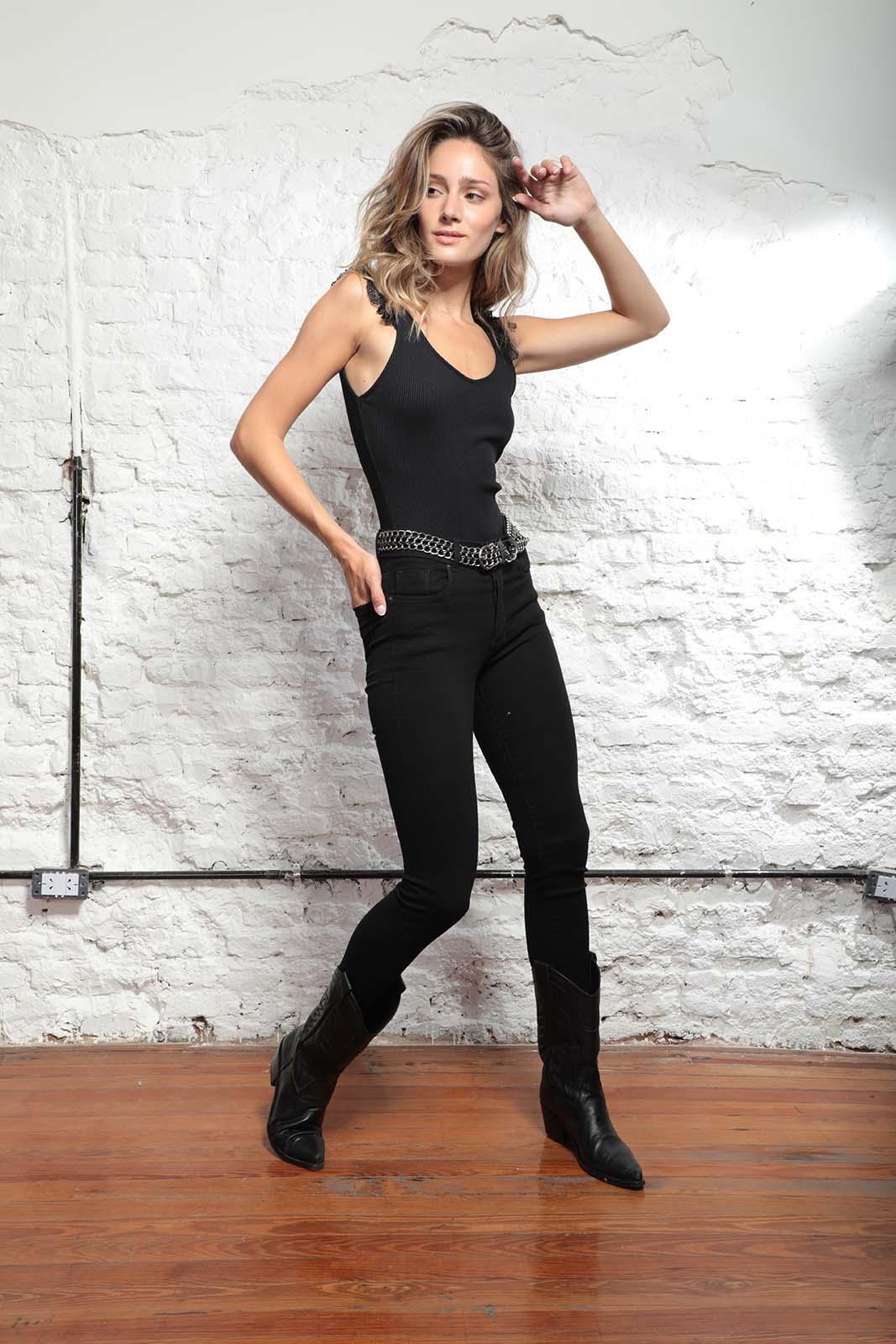 Cezeta Jeans Chupin negro